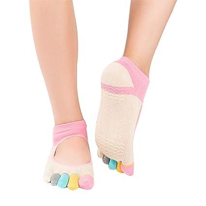Amazon.com : HAIsangyunae Women Pilates Five Toe Cotton Non ...