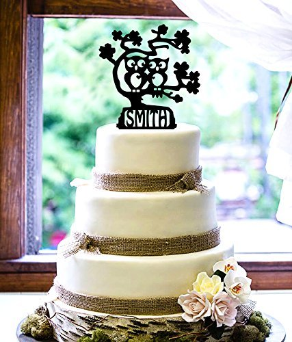 Personalized Cake Topper - Owl