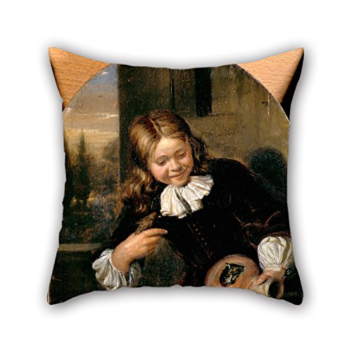 [Uloveme Oil Painting De Moor, Carel - Boy With A Flagon And A Bird's Nest Cushion Cases 16 X 16 Inches / 40 By 40 Cm Gift Or Decor For Kids Room,deck Chair,car Seat,divan,her,teens - Each] (Dark Souls Black Knight Costume)