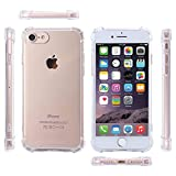 Midkart Clear Transparent Only for iPhone 7 / 8 (4.7 Inches) with 4 Corner, 360 Degree & Camera Lens Protection Shockproof Rugged Armor Back Case Cover