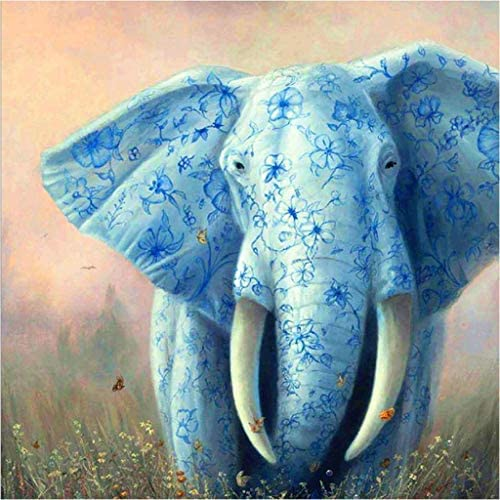 Animal Diamond Painting Kits for Adults Kids, 5d Diamonds Art with Tools Accessories, Flower Elephant Paintings DIY Arts Dotz Craft for Home Décor, Ideal Gift for Family or Self Use