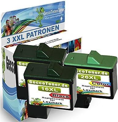 Premium Conjunto de 3 Cartuchos de Tinta Compatible con Lexmark 16 ...