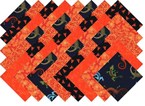 Halloween Charm Packs (Orange Black Blender Charm Pack 40 Precut 5-inch Quilting Fabric)