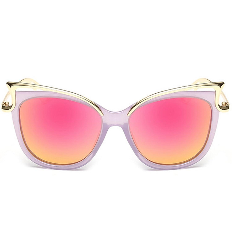 VVeda Crystal Frame Hollow Metal Polarized Lady Sunglasses