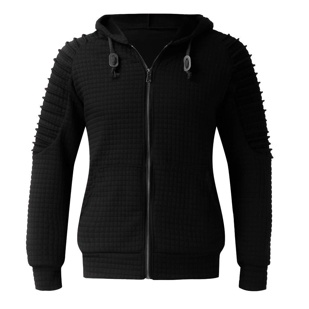 Caopixx Sweatshirt for Men 2019 Mens\' Hooded Pullover Jacket Coat Outwear
