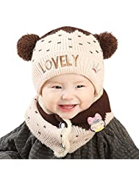 Perman Baby Girls Boys Winter Hat Scarf Earflap Hood Scarves Skull Caps
