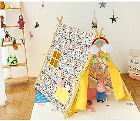 YYFZTienda Infantil Exterior Exterior Jardín Casa de Juegos Playa Casa Diversión Tienda de campaña para niños Tienda de Interior Interior Tienda de algodón Grueso Color (Amarillo): Amazon.es: Hogar