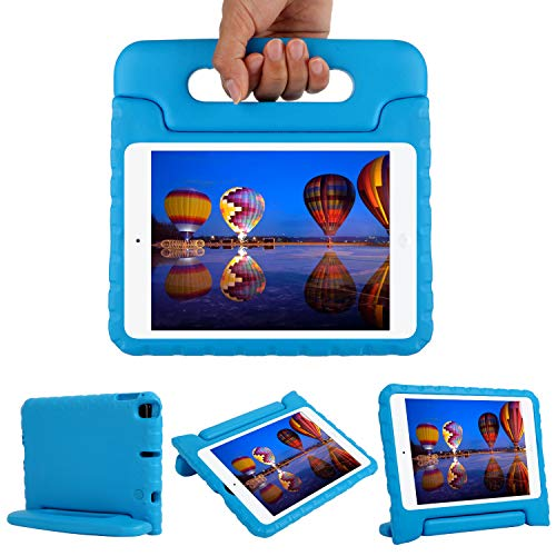 CAM-ULATA New iPad Mini 5th Generation 2019 Case Kids Durable Shockproof Convertible Handle Light Weight Soft Kid Friendly Protective Case Cover for iPad Mini 4 2015 Mini 5 2019,Blue
