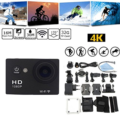 W9 12MP Sports Wi-Fi Action Camera (Black) - 5