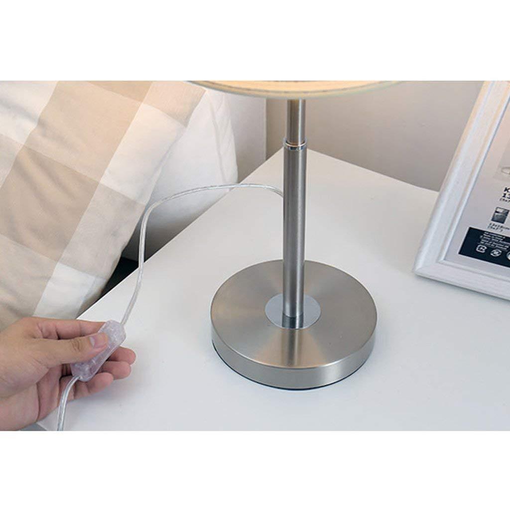 S Tischlampe Einfaches gestreiftes Chrom, Art und Weise kreatives Wohnzimmer Beleuchtung Dekorative Nachtabdeckung ES