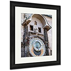 Ashley Framed Prints Astronomical Clock On Tower City Hall Old Town Square Prague, Wall Art Home Decoration, Color, 30x26 (frame size), Black Frame, AG5401285