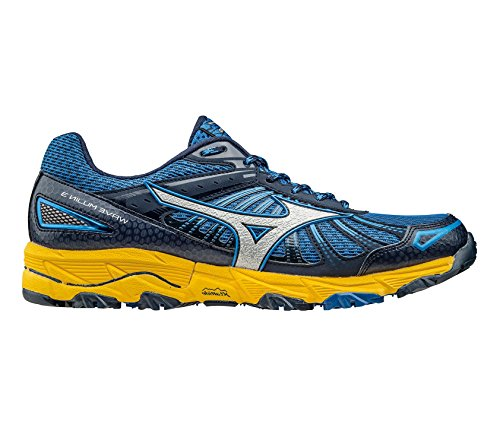 Mizuno Men Wave Mujin 3 Trail Running Shoes Skydiver / Silver / Spectra Yellow
