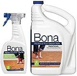 Bona Hardwood Floor Cleaner, Original Formula, 96 Ounce Refill, Plus Bonus 22 Ounce Spray