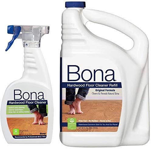 Original Wood Cleaner - Bona Hardwood Floor Cleaner, Original Formula, 96 Ounce Refill, Plus Bonus 22 Ounce Spray