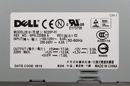 DELL 0R8038 OR R8038 NPS-220BBA 220W POWER SUPPLY FOR DELL GX520