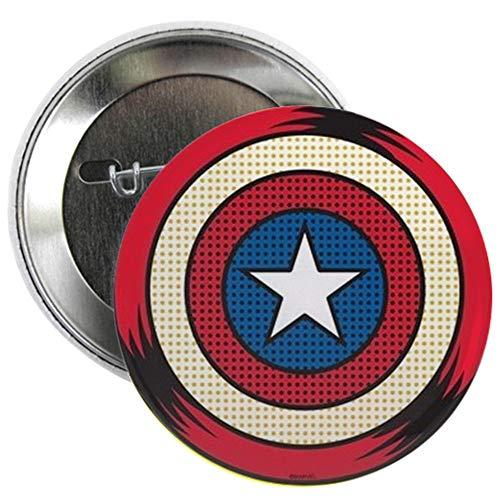 (CafePress Captain America Comic Shield 2.25 Button 2.25