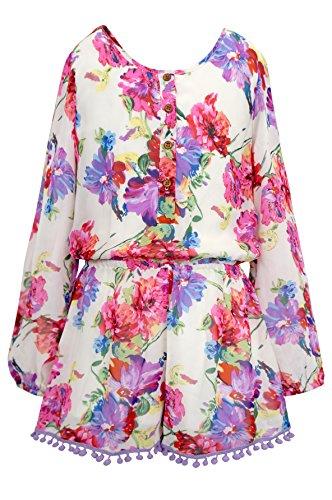 Truly Me, Big Girls Tween Stunning Long Sleeve Romper (Many Options), 7-16 (14, (Tween Dresses Formal)