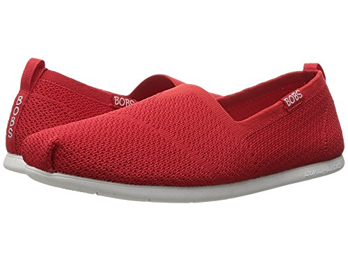 Skechers Women's BOBS Plush Lite Custom Built Alpargata,Red,US 8 M