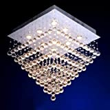 Siljoy W27.6″ X H27.6″ Square Seven Tiers Crystal Rain Drop Design LED Lighting Review