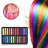 #5: Ameauty Hair Chalk Set, 24 Hair Dye Colors Non-Toxic Washable Temporary Hair Chalk for Girls Kids Party Cosplay