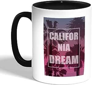 california dream Printed Coffee Mug, Black