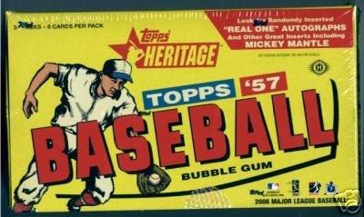 2006 Topps Heritage Baseball Hobby Box - 2006 Topps Baseball Cards Hobby