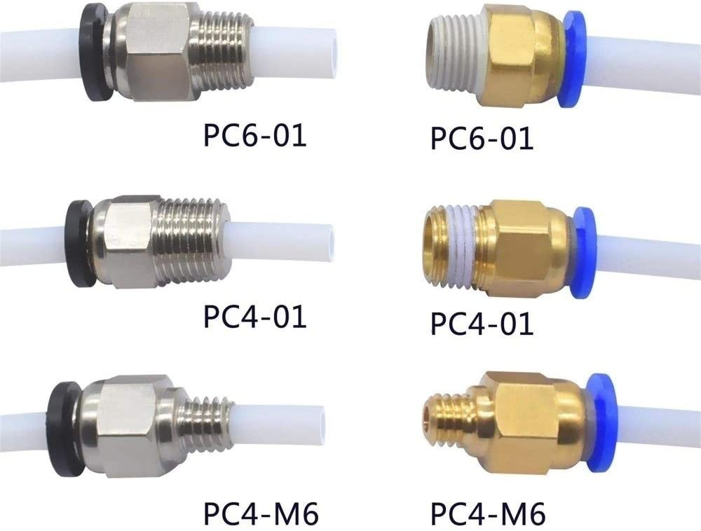Pc4-m6 tyre Connector Coupler PTFE Push Fit Fitting 3d printer