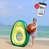 LetsFunny Avocado Inflatable Giant Floats with Rapid Valves Pool Party Beach Swimming Raft Floaty Lounger Decorations Toys Games for Adult and Kids