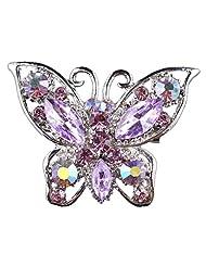 Women Fashion Rhinestone Butterfly Elegant Brooch Pin Wedding Bride