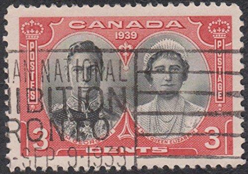stamp King George VI Queen Elizabeth 1939 Canada Canadian Postal