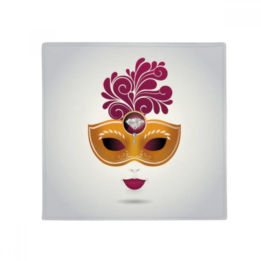 DIYthinker Femininity Mask Happy Carnival of Venice Anti-Slip Floor Pet Mat Square Home Kitchen Door 80Cm Gift