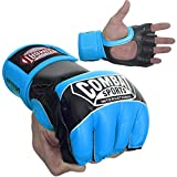 Ringside Combat Sports Pro Style MMA Gloves, Electric Blue, Small