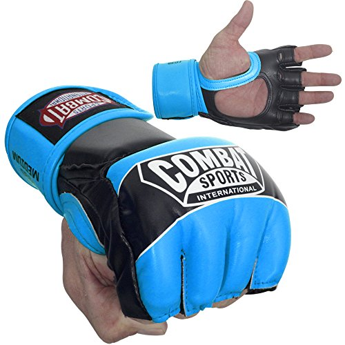 Ringside Combat Sports Pro Style MMA Gloves Electric Blue Youth Large
