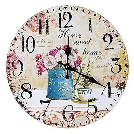 plug in wall clock vintage