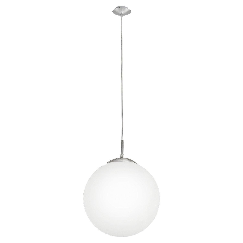 EGLO 85263 Hängeleuchte Rondo mit opal-mattem Glas, Durchmesser 30 cm, nickel-matt