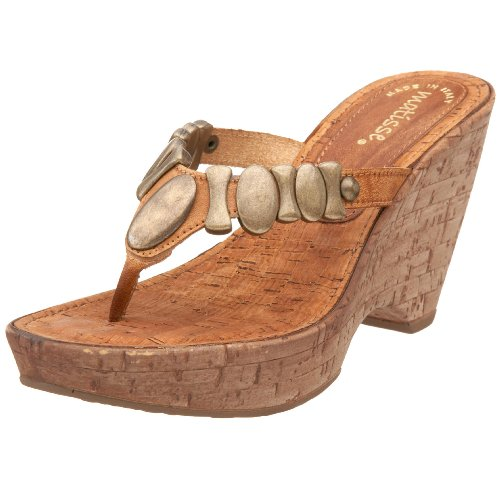 Matisse Women's Harrison Thong Sandal,Tan,5.5 M US