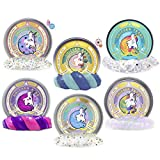 Mythical Slyme Unicorn Putty Great Gag Toy - Perfect for Easter Basket Stuffers for Birthdays, Parties and Special Celebrations (6-Set)