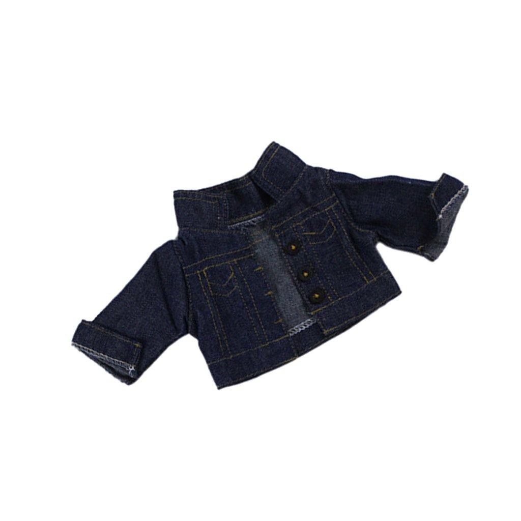MagiDeal Abiti Top Giacca Jeans Fibbia Moda Stile Per Bambole Accessori 18