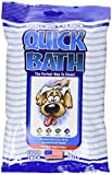 Quick Bath Dog Wipes, Reduces Odor & Bacteria with All-Natural Skin Conditioners and Cleaners, Extra Thick & Heavy Duty for Small/Medium Dogs, 10 Count