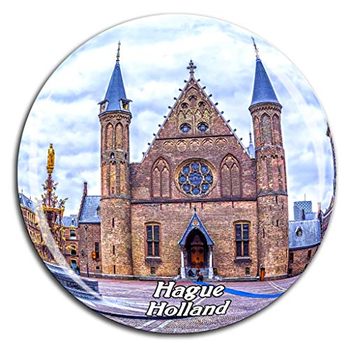Inner Court & Hall of the Knights Hague Netherlands Holland Fridge Magnet 3D Crystal Glass Tourist City Travel Souvenir Collection Gift Strong Refrigerator Sticker
