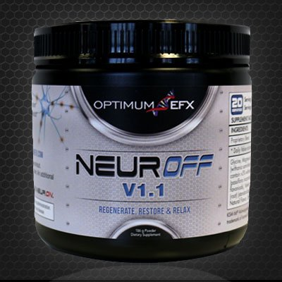NEUROFF V1.1 - 186g powder - Relax, Regenerate and Restore - Post workout Calming and Recovery formula w/ KSM-66® Ashwagandha - OPTIMUM EFX