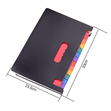Amazon.com : 24 Pockets Expanding Files Folder Portable Accordion File Folder High Capacity Multicolour Stand Plastic A4 Business File Package Organizer Bag ...