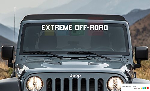 Front Windshield Sticker Decal Front Window for Jeep Wrangler EXTRME Off-Road JK