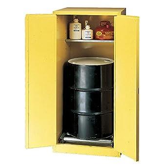 "Eagle HAZ2610 Drum Storage Safety Cabinet, Self-Closing, Vertical Drum, 2 Door, 31-1/4"" Width x 65"" Height x 31-1/4"" Depth, 55 Gallon Capacity"