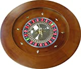 20'' Solid Wood Hand Crafted Casino Style Roulette Wheel
