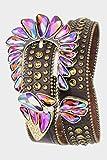 Trendy Fashion Jewelry Asymmetrical Crystal Belt By Fashion Destination | (Brown)