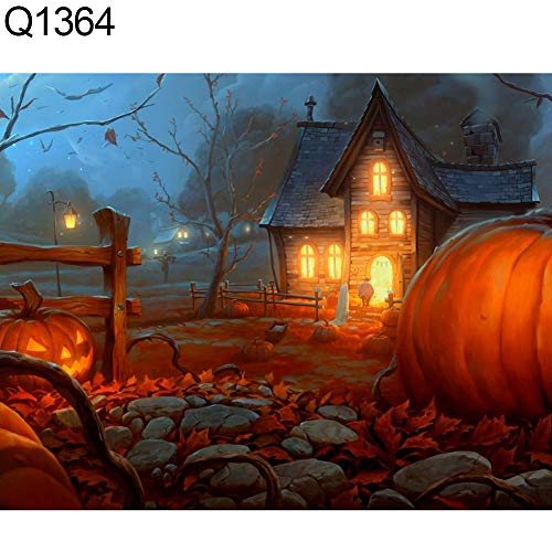 yanQxIzbiu DIY 5D Diamond Painting Spooky Halloween Pumpkin Grave Full Diamond Painting DIY Wall Cross Stitch Decor Q1364 -