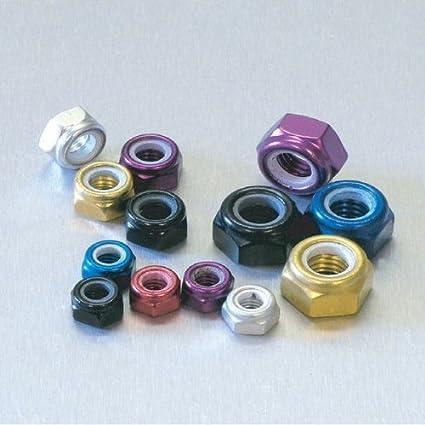 Aluminium Nylon Mutter M3 Purple