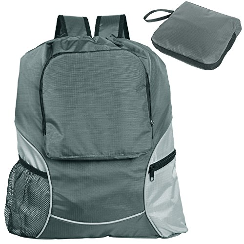 Teamoy Foldable Sackpack Drawstring Reflective