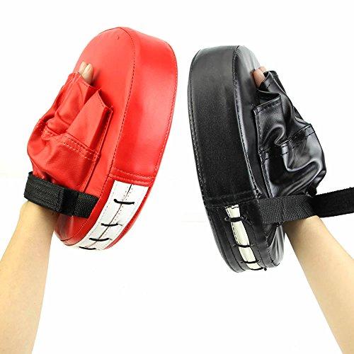 YSTD® Boxing Mitt MMA Karate Combat Thai Kick Training Focus Target Punch Pad Glove (Black)